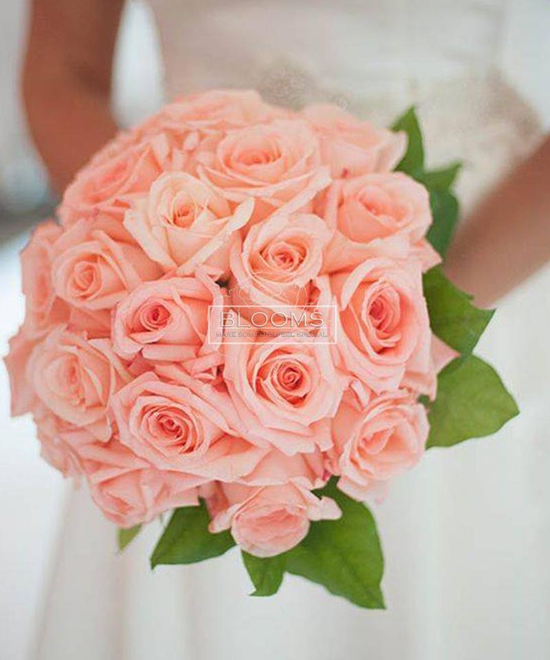 საქორწინო თაიგული 20 ვარდისფერი ვარდით